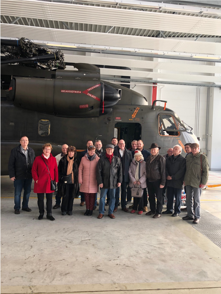 19.12.2019 Besuch des Hubschraubergeschwaders 64 in Holzdorf