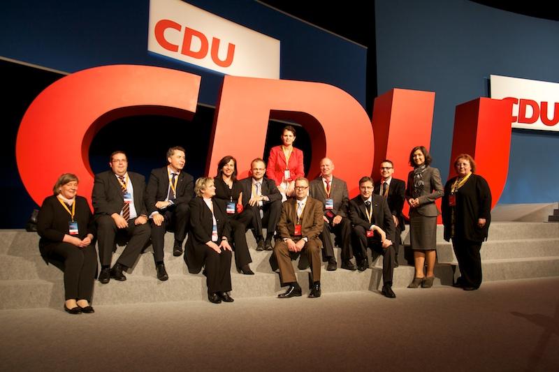 Die Delegierten der Märkischen Union in Leipzig