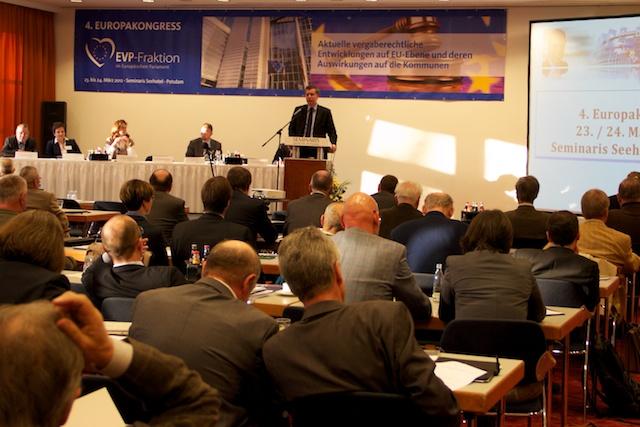 Dr. Christian Ehler MdEP eröffnet den 4. Europakongreß in Potsdam