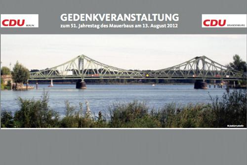 Gedenkveranstaltung an der Glienicker Brücke