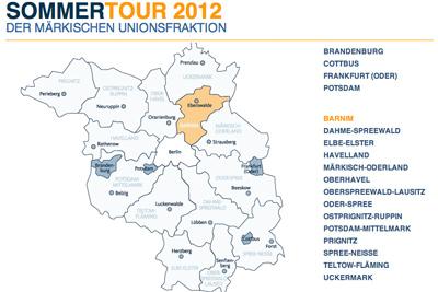 Sommertour 2012 der Märkischen Unionsfraktion im Landtag Brandenburg
