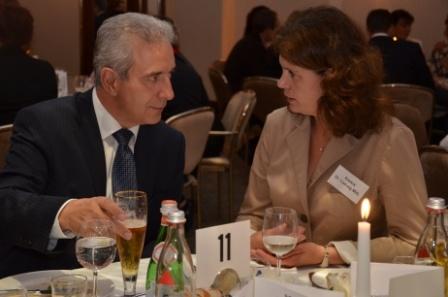 Ministerpräsident Stanislaw Tillich und Dr. Saskia Ludwig in Cottbus