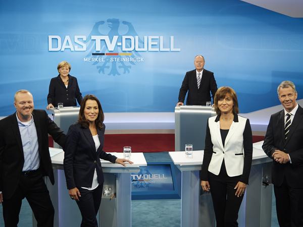 TV-Duell zwischen Angela Merkel und Peer Steinbrück (Bild: Laurence Chaperon)