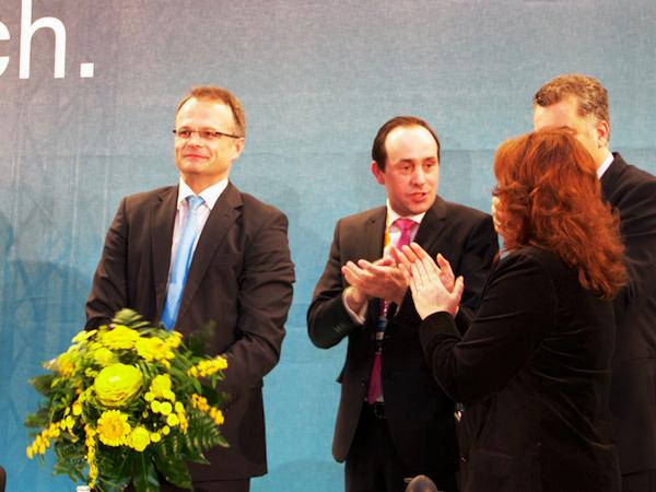 Prof. Michael Schierack nach seiner Wiederwahl zum Landesvorsitzenden der CDU Brandenburg