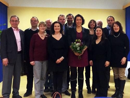 Der neugewählte Kreisvorstand der CDU Märkisch-Oderland mit Generalsekretärin Anja Heinrich