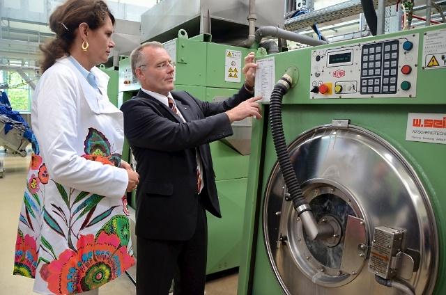 Saskia Ludwig bei der MEWA Textil-Service AG
