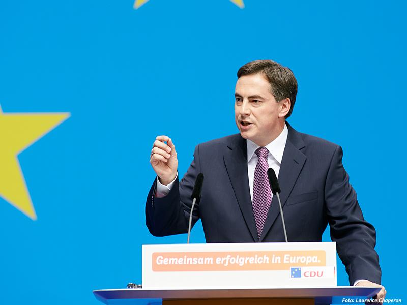 Spitzenkandidat der CDU Deutschlands zur Europawahl, David McAllister