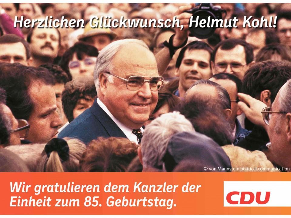 Bundeskanzler a.D. Dr. Helmut Kohl